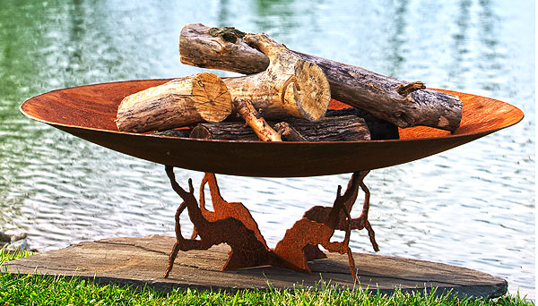 How to Put Out a Wood-Burning Fire Pit