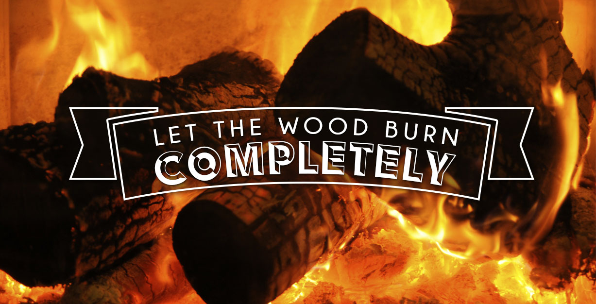 To put out a fire pit, you can make sure all the wood burns completely.