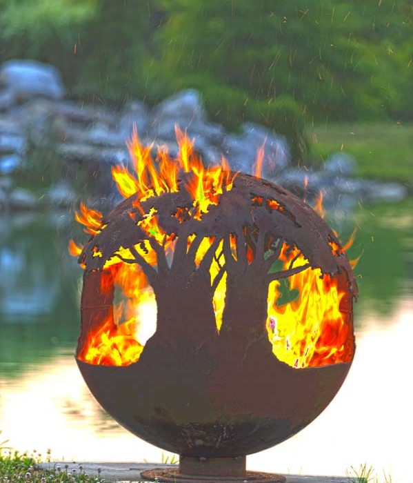 Tree of Life Fire Pit Sphere 37""
