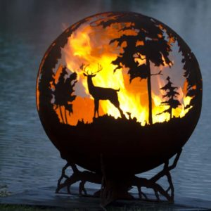 "Up North 37"" Fire Pit Sphere 1"