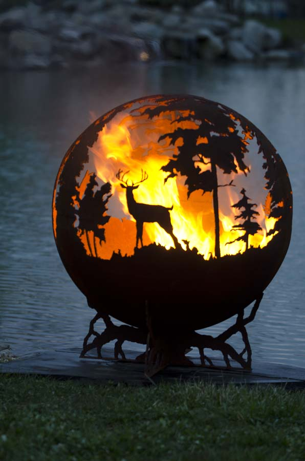 Up North Fire Pit Sphere The Gallery