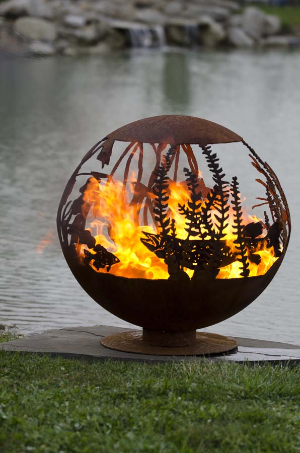Red Lake Fire Pit Sphere The Fire Pit Gallery The Fire