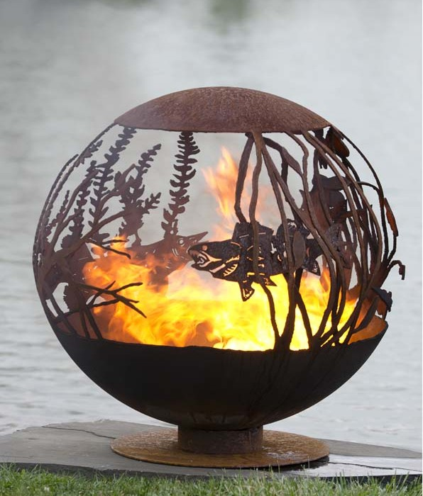 Red Lake Fish Artisan Fire Pit