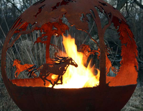 Wildfire Fire Pit Sphere 37""