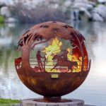 "Round Up 37"" Fire Pit Sphere"