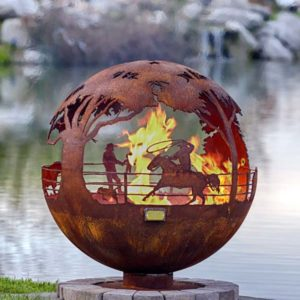 """Round Up 37"""" Fire Pit Sphere"""