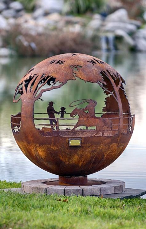 """Round Up 37"""" Fire Pit Sphere 1"""