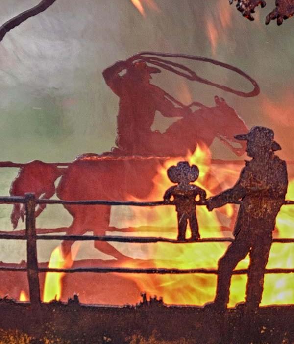 Cowboy Ranch Artisan Fire Pit