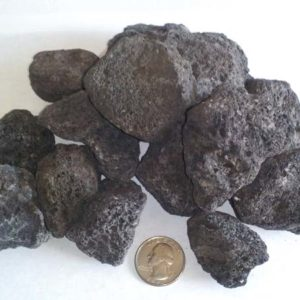 "Lava Rock - 1"" to 2"" - Black"