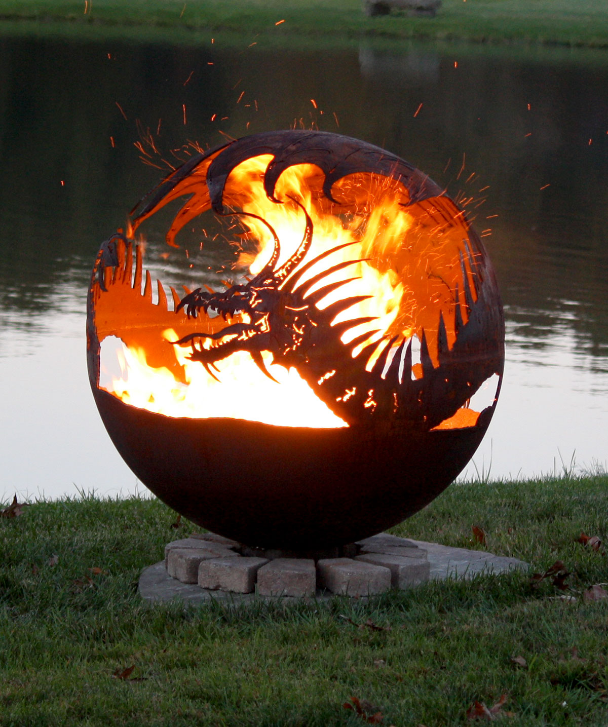 Pendragons Hearth Dragon Fire Pit Sphere The