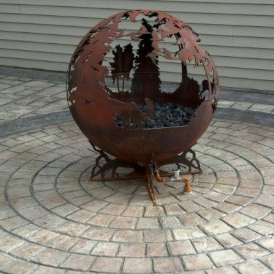 Up North Gas Fire Pit Photo - Shows Piping