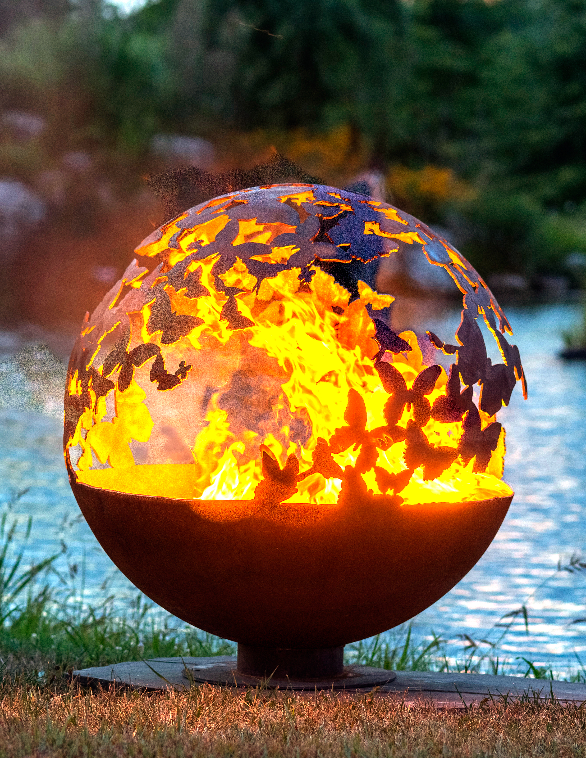 Design Your Own Kit Home Australia Wings Butterfly Fire Pit Sphere The Fire Pit Gallery