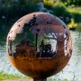 Appel Crisp Farms - Farm Fire Pit Sphere - Barn-Tractor-Farmre