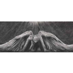 Untitled 3: Angel Charcoal Giclee Print on Paper