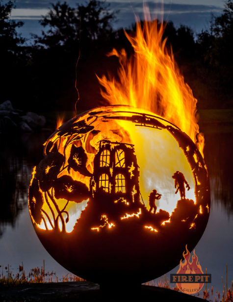 Lest We Forget fire pit sphere 04 - The Fire Pit Gallery
