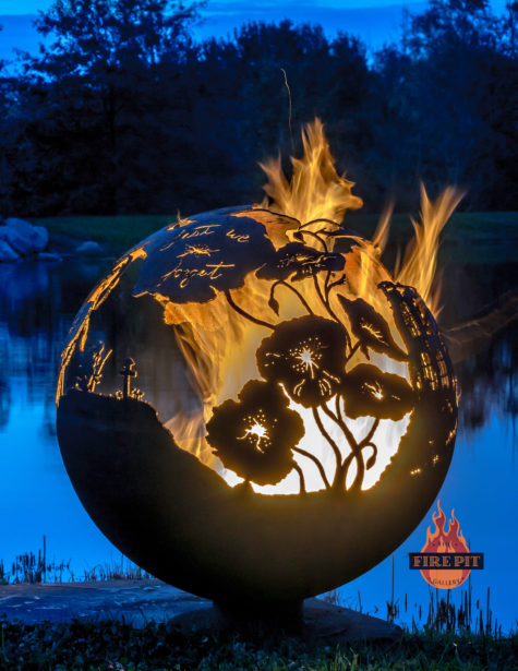 Lest We Forget fire pit sphere 07 - The Fire Pit Gallery