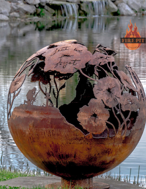 Lest We Forget fire pit sphere 08 - The Fire Pit Gallery