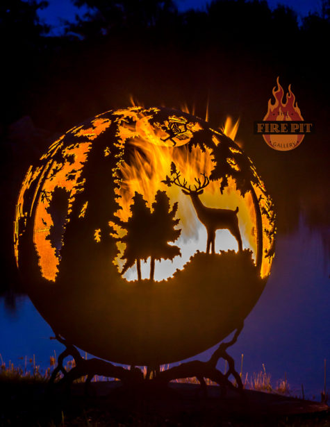 Enchanted Woods Fairy Fire Pit Sphere 07 - The Fire Pit Gallery